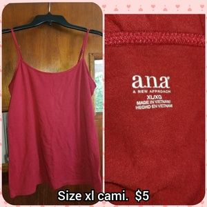 A.n.a red cami size XL